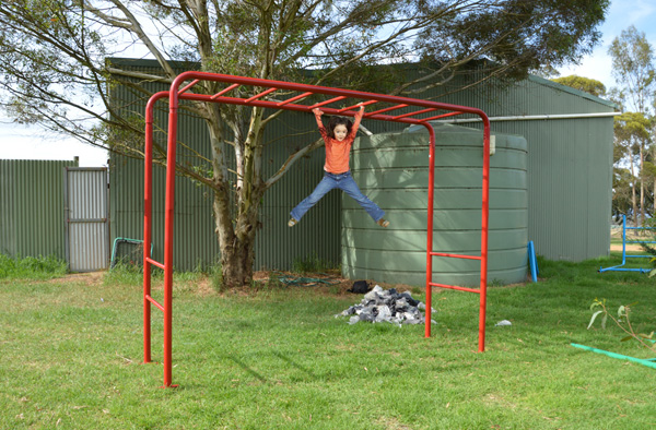 Mini Red Monkey Bars Playground Equipment