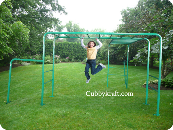 Green Monkey Bars Playground Equipment