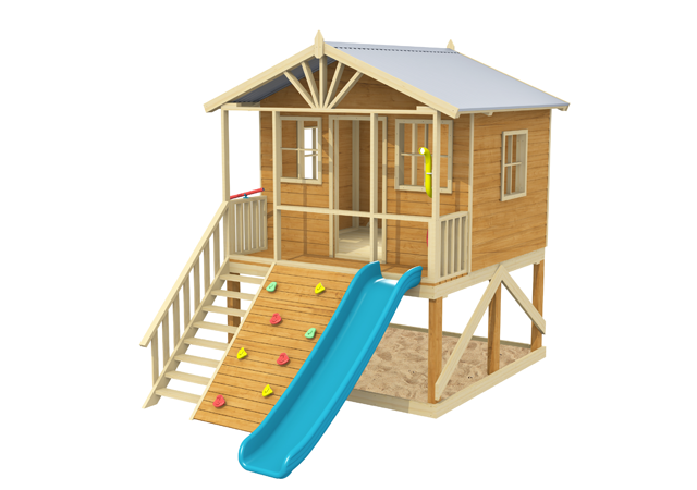 Rivergum Cubby House, cool tree houses, backyard playsets, cubby house, Blue Gum Cubby House