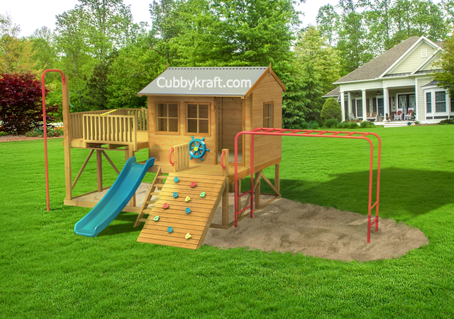 monkey pack, outdoor playground equipment, cubby house, Monkey Pack Cubby House