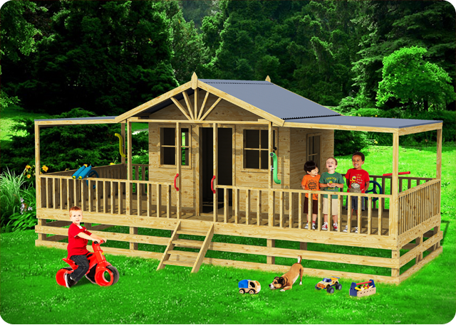 Brisbane Deluxe, kids cubby houses,  cubby house, Little River Cubby House