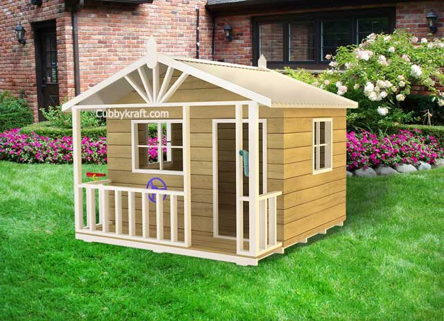 Kingfisher, kids outdoor playhouses, cubby house, Kingfisher Cubby House