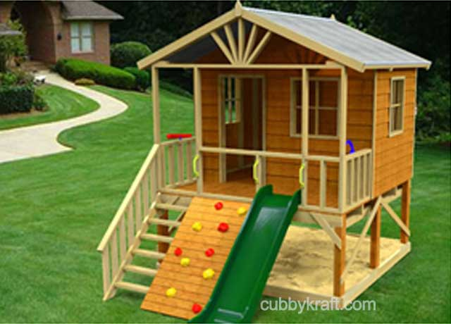 Kookaburra loft cubby houses and playground equipment for Design a house online for fun