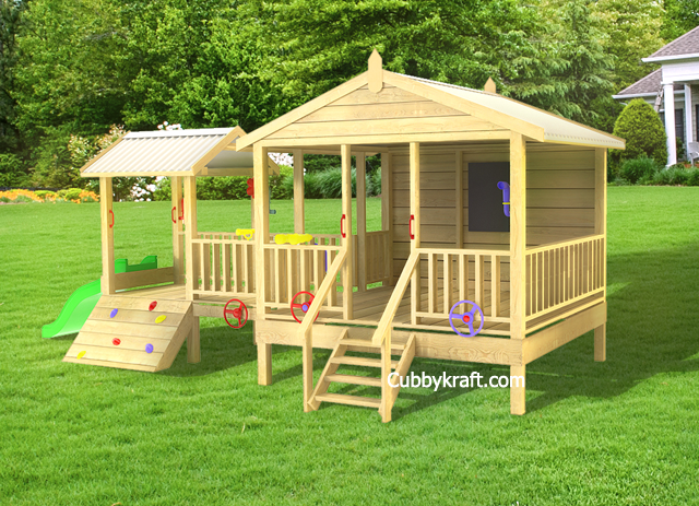 Tangle Wood, wooden playground equipment, cubby house fort, Tangle Wood Cubby Fort