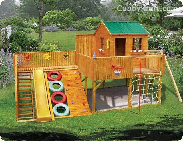 Timberwolf cubby house kids playground equipment for Design your own house for kids
