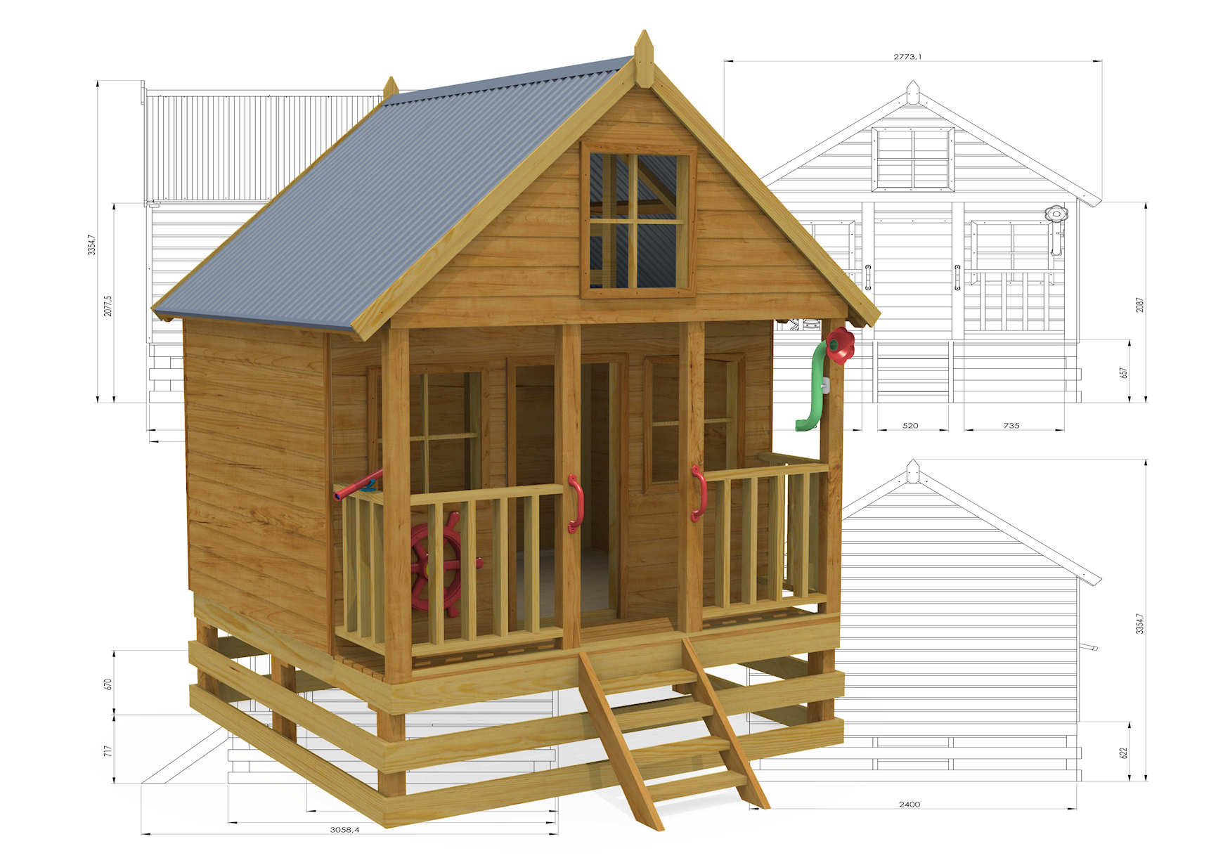 Country Cottage Cubby House together with Flypage tpl in addition Rainbow Lodge Deluxe together with 40640709 together with 873 Bookshelf Slanted Front Storage Box. on outdoor wooden rockers